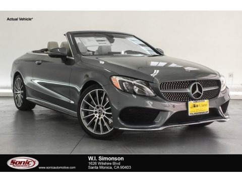 Selenite Grey Metallic 2018 Mercedes-Benz C 300 Cabriolet