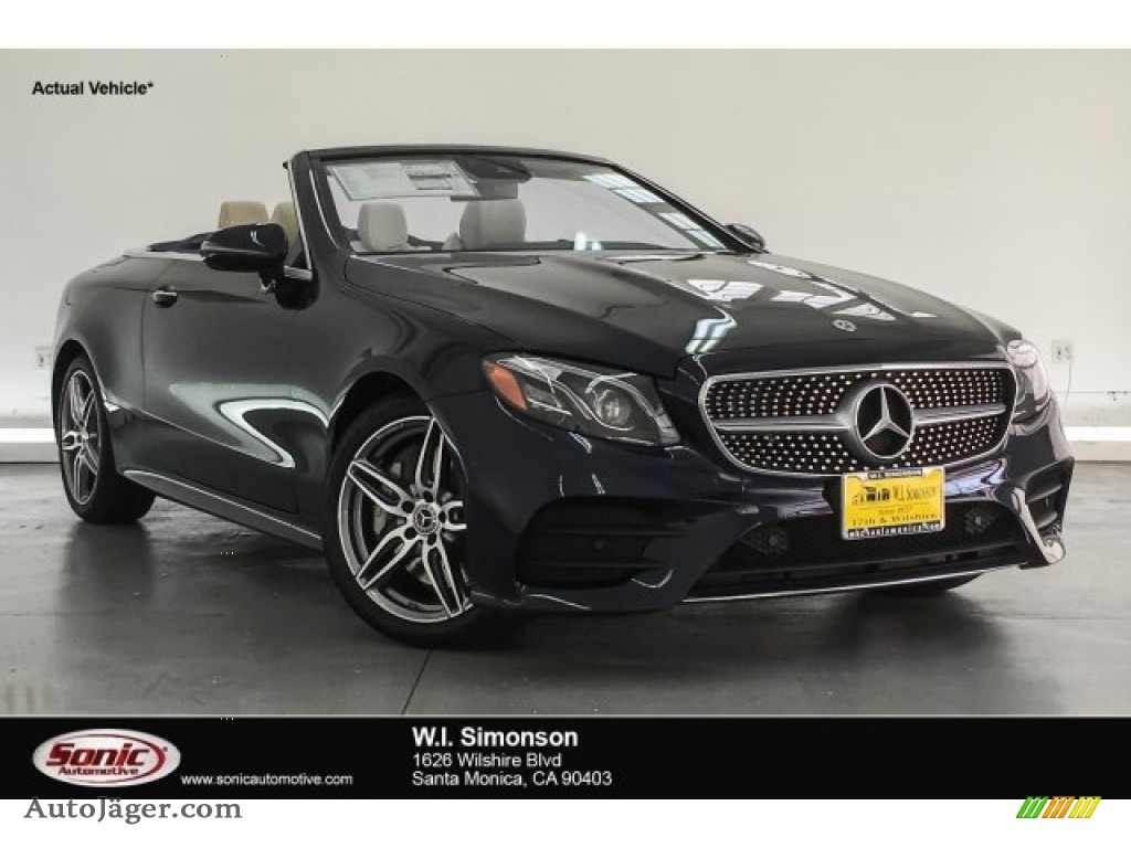 2018 E 400 Convertible - Lunar Blue Metallic / Macchiato Beige/Yacht Blue photo #1