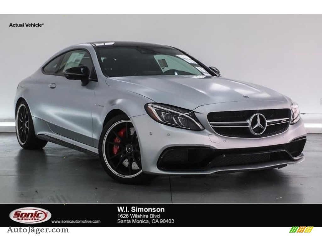 2018 C 63 S AMG Coupe - designo Iridium Silver Magno (Matte) / Black photo #1