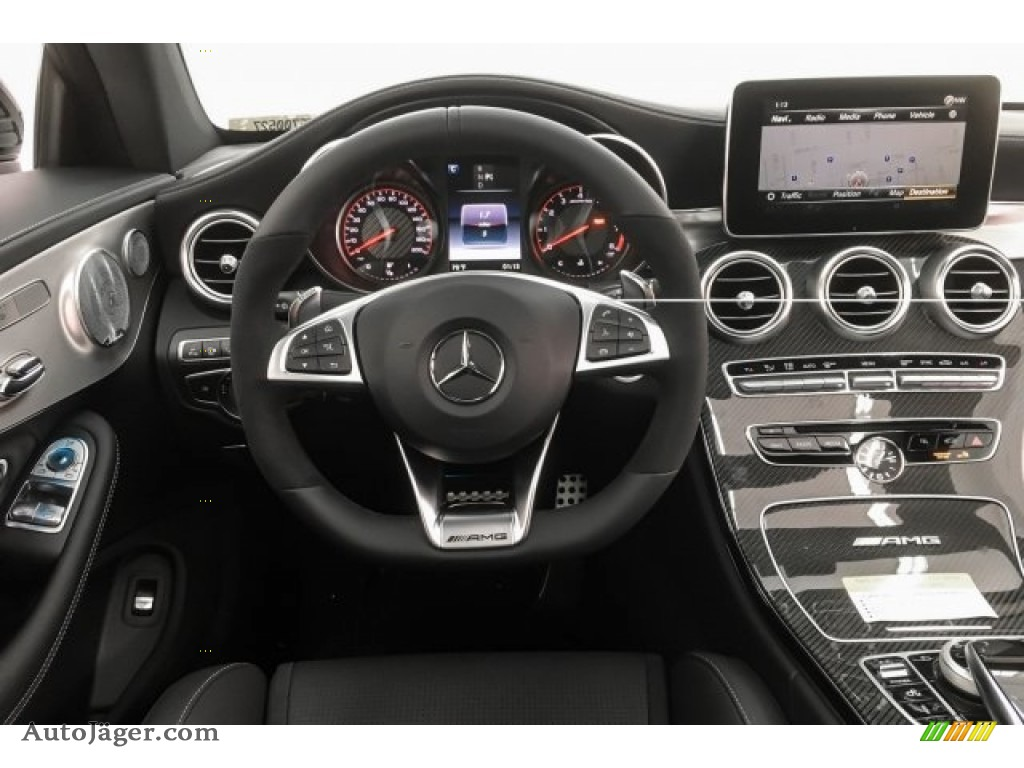 2018 C 63 S AMG Coupe - designo Iridium Silver Magno (Matte) / Black photo #4