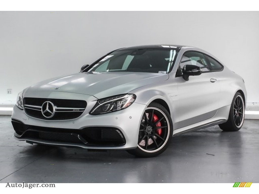 2018 C 63 S AMG Coupe - designo Iridium Silver Magno (Matte) / Black photo #13