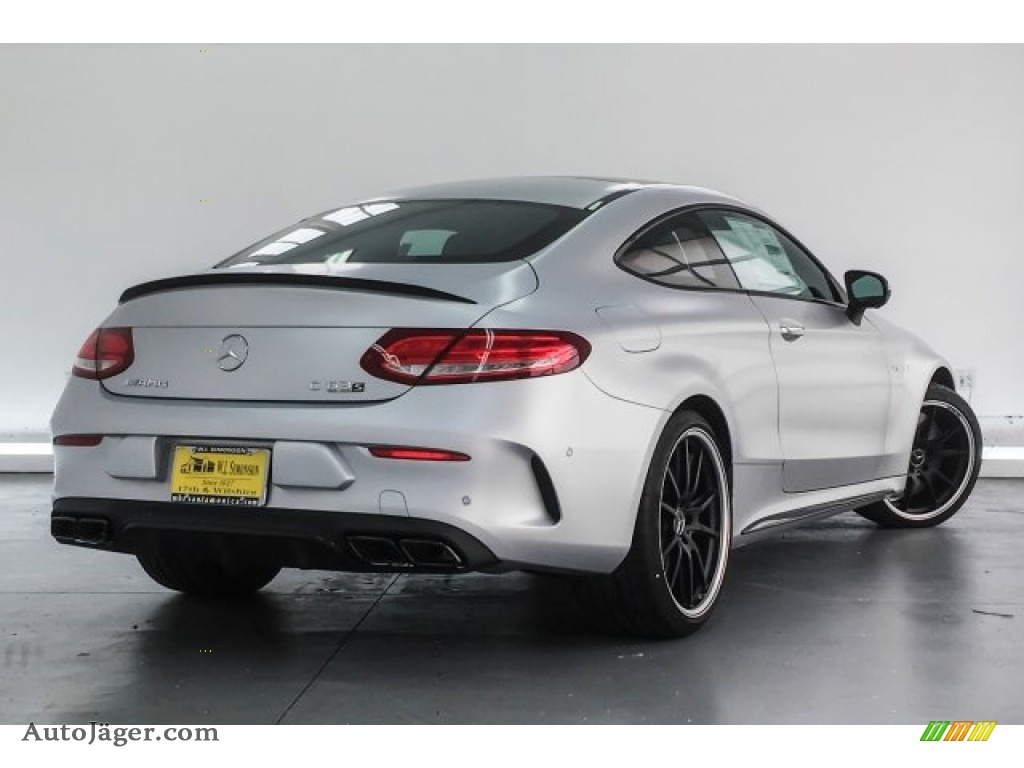 2018 C 63 S AMG Coupe - designo Iridium Silver Magno (Matte) / Black photo #16