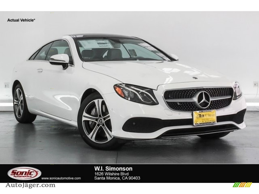 2018 E 400 Coupe - Polar White / Macchiato Beige/Yacht Blue photo #1