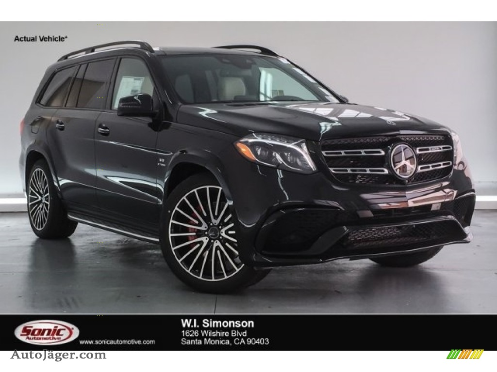 2018 GLS 63 AMG 4Matic - Obsidian Black Metallic / designo Porcelain/Black photo #1
