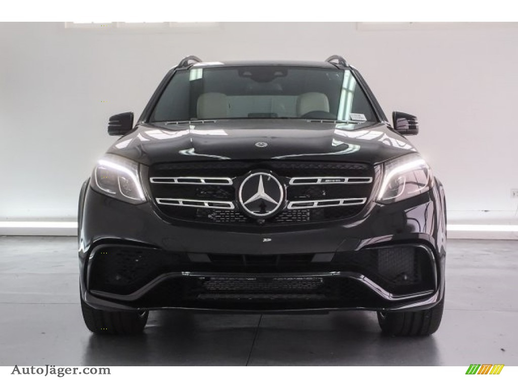 2018 GLS 63 AMG 4Matic - Obsidian Black Metallic / designo Porcelain/Black photo #2