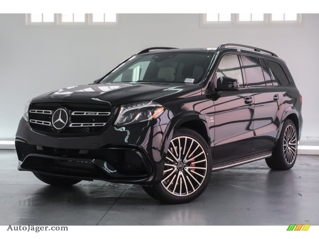 2018 GLS 63 AMG 4Matic - Obsidian Black Metallic / designo Porcelain/Black photo #13