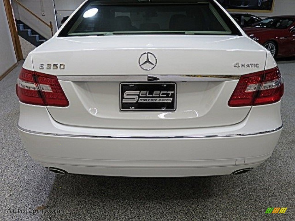 2013 E 350 4Matic Sedan - Polar White / Almond/Black photo #5
