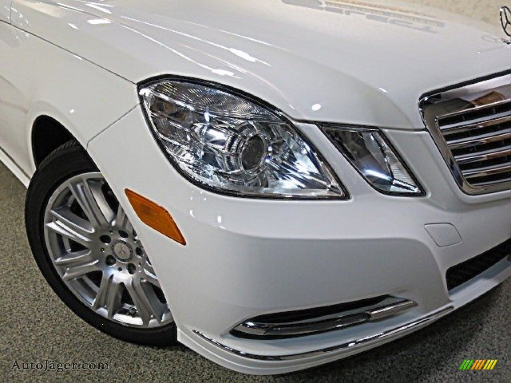 2013 E 350 4Matic Sedan - Polar White / Almond/Black photo #8
