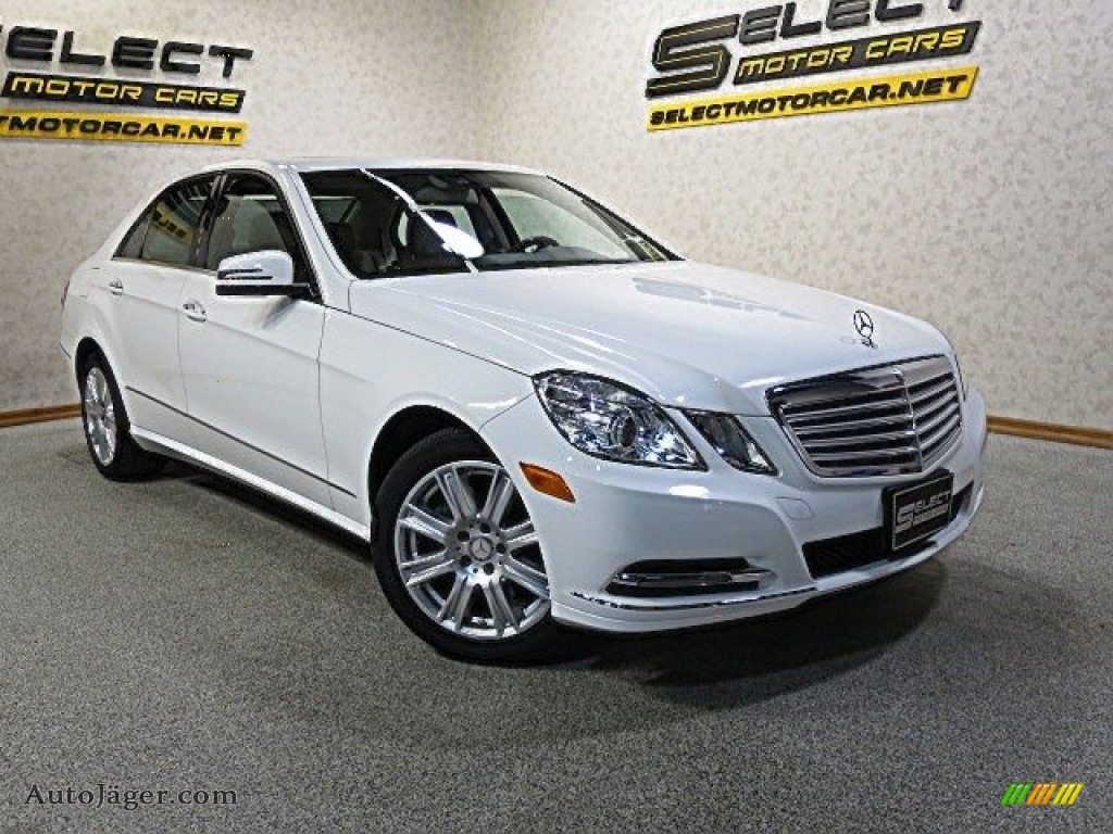 2013 E 350 4Matic Sedan - Polar White / Almond/Black photo #10