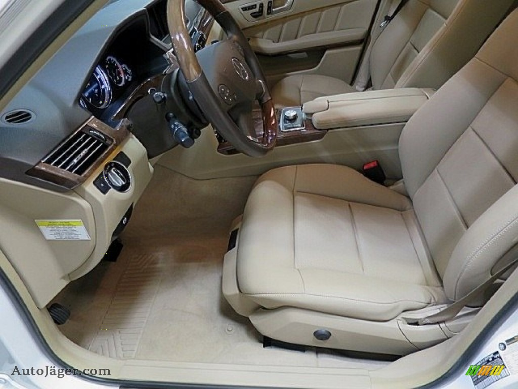 2013 E 350 4Matic Sedan - Polar White / Almond/Black photo #14
