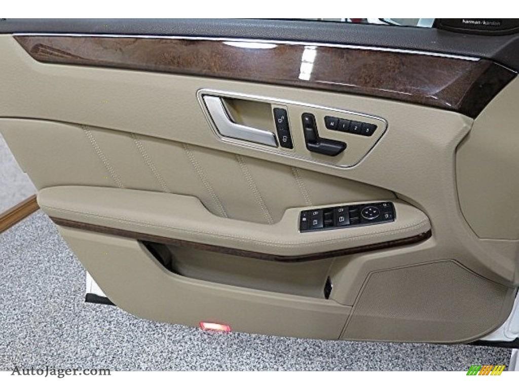 2013 E 350 4Matic Sedan - Polar White / Almond/Black photo #18