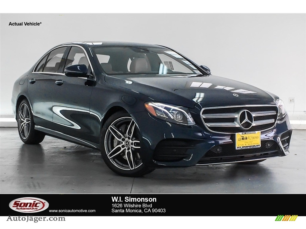 2018 E 300 Sedan - Lunar Blue Metallic / Macchiato Beige/Black photo #1