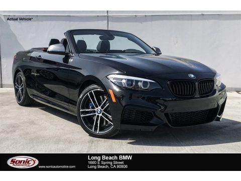 Black Sapphire Metallic 2018 BMW 2 Series M240i Convertible
