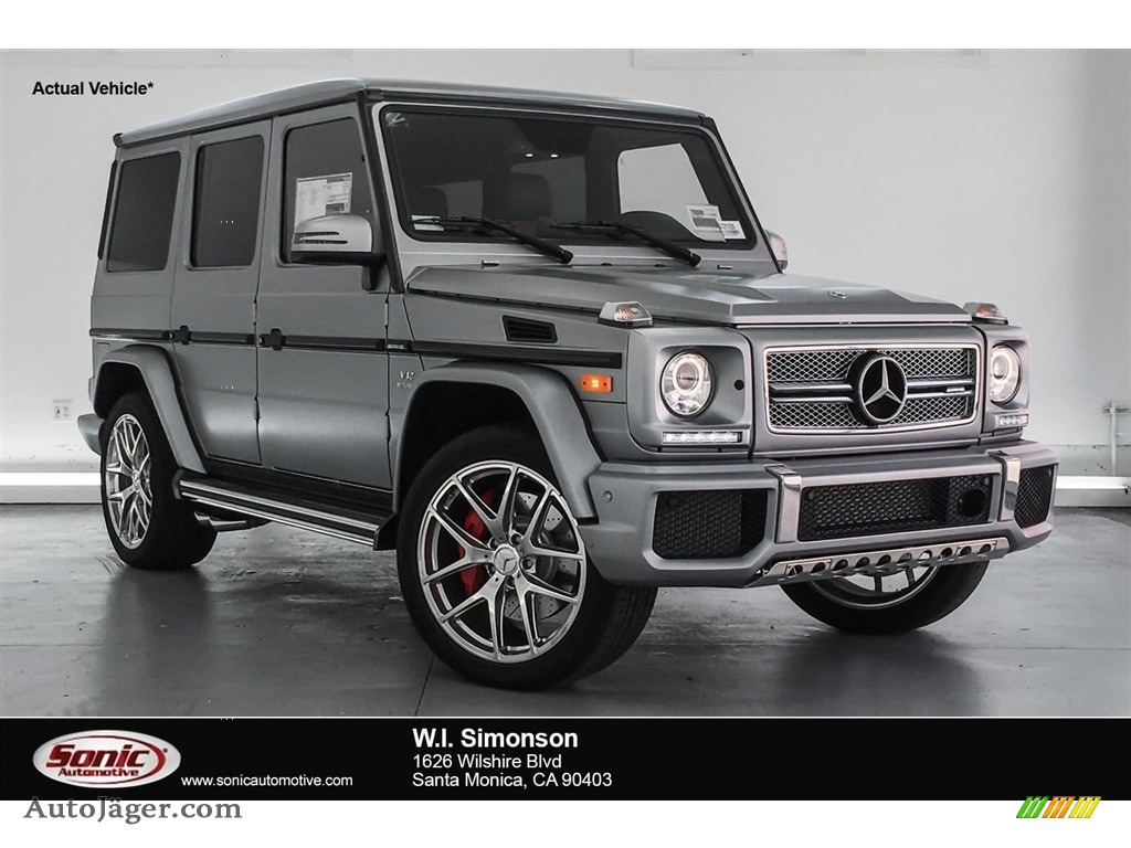 2018 G 65 AMG - designo Manufaktur Allanite Grey Magno (Matte) / designo Classic Red Two-Tone photo #1