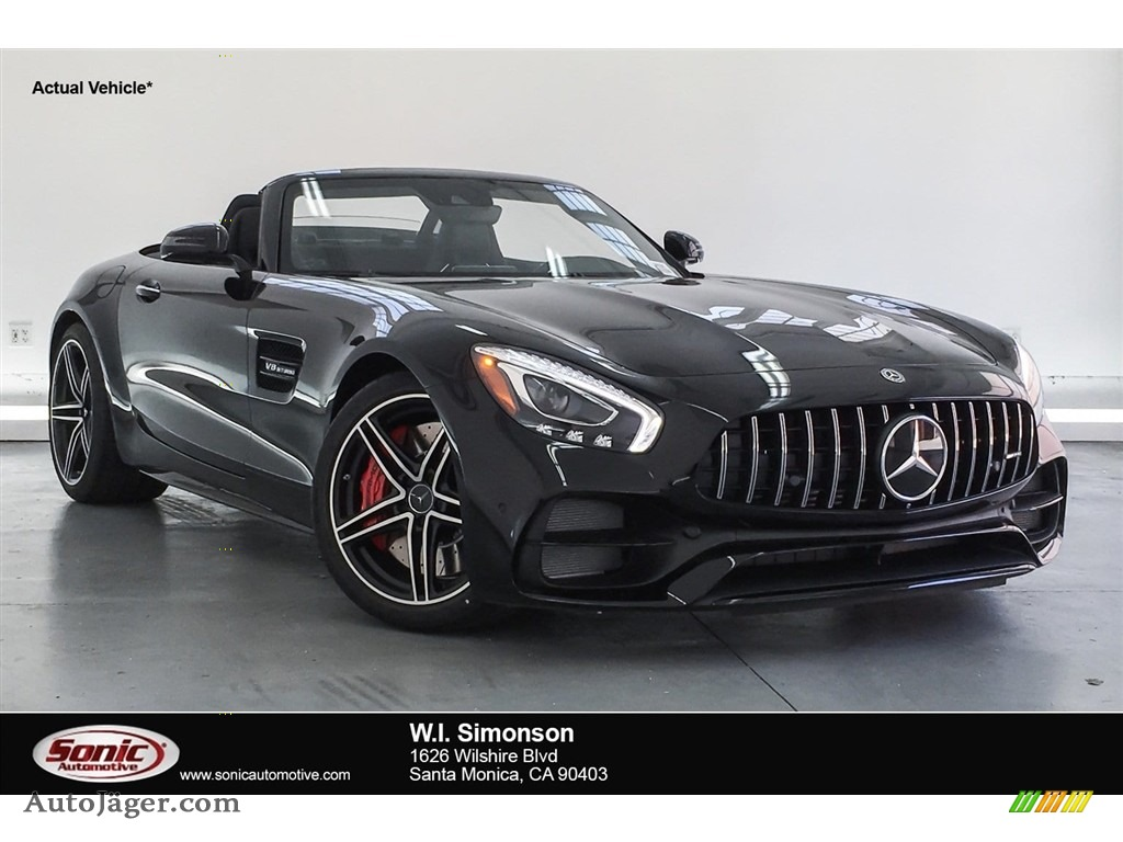 2018 AMG GT C Roadster - Black / Black photo #1
