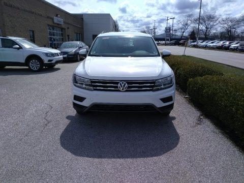 Pure White 2018 Volkswagen Tiguan S 4MOTION