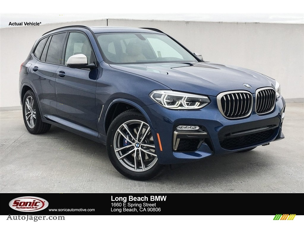 2018 X3 M40i - Phytonic Blue Metallic / Cognac photo #1