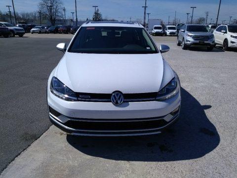 Pure White 2018 Volkswagen Golf Alltrack SE 4Motion