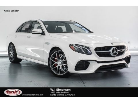 designo Diamond White Metallic 2018 Mercedes-Benz E AMG 63 S 4Matic