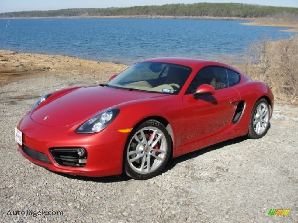2014 Cayman S - Guards Red / Luxor Beige photo #1