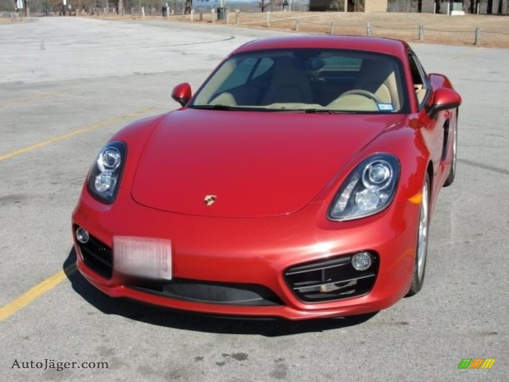 2014 Cayman S - Guards Red / Luxor Beige photo #3