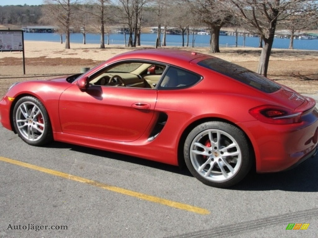 2014 Cayman S - Guards Red / Luxor Beige photo #10