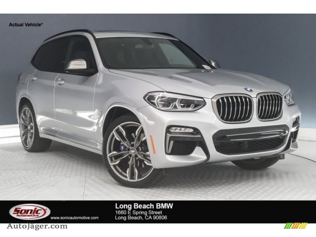2018 X3 M40i - Glacier Silver Metallic / Black photo #1
