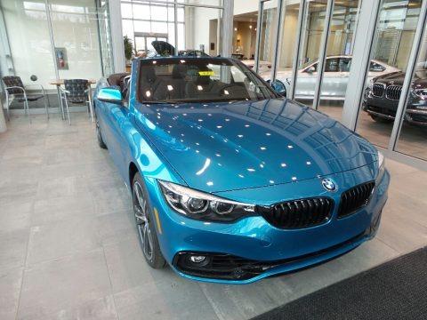 Snapper Rocks Blue Metallic 2018 BMW 4 Series 440i xDrive Convertible