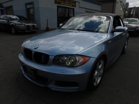 Blue Water Metallic 2008 BMW 1 Series 135i Convertible