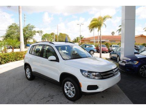 Pure White 2016 Volkswagen Tiguan S