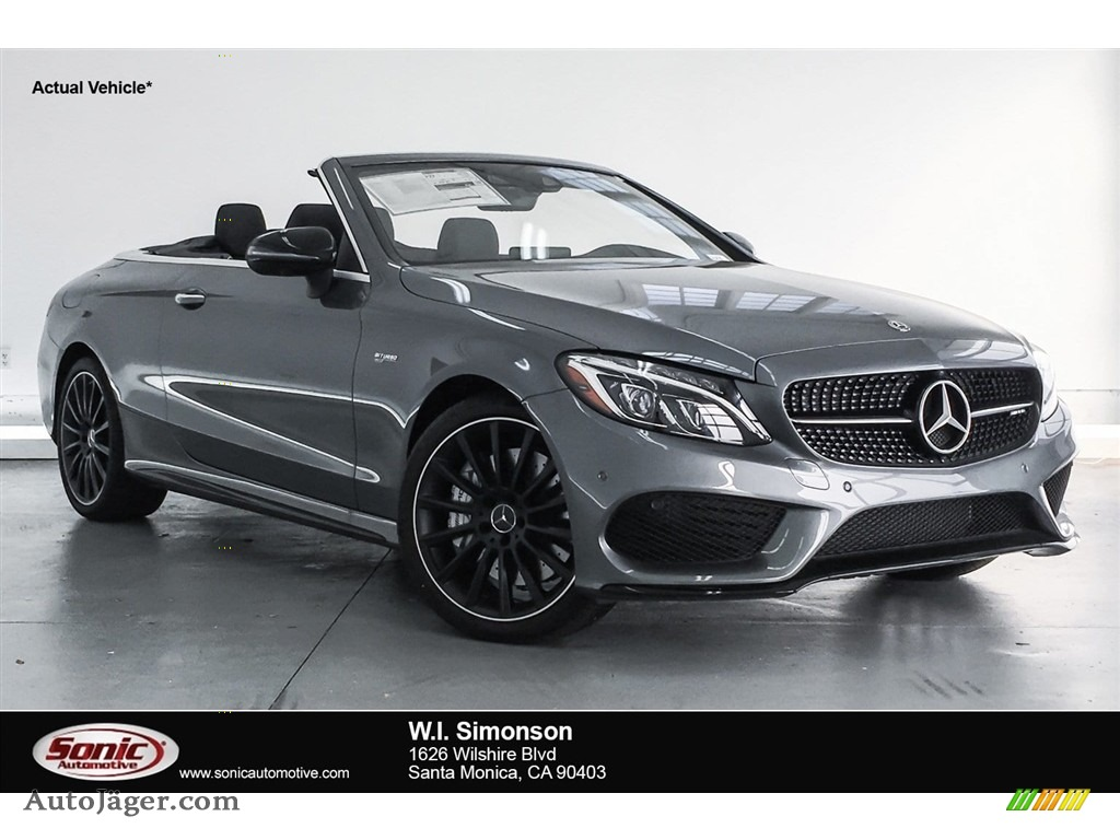 2018 C 43 AMG 4Matic Cabriolet - Selenite Grey Metallic / Black photo #1