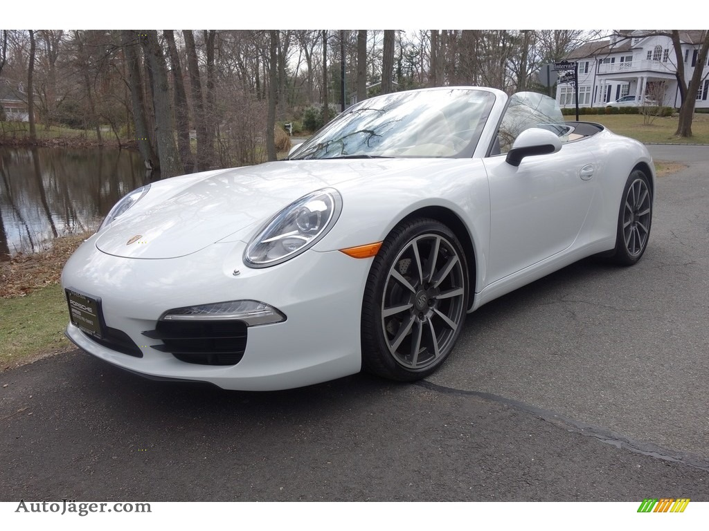 2014 911 Carrera Cabriolet - White / Luxor Beige photo #1