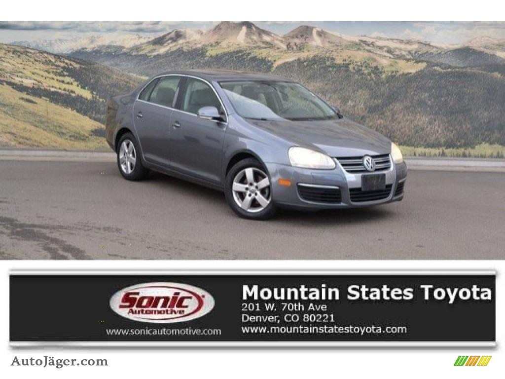 2008 Jetta SE Sedan - Platinum Grey Metallic / Art Grey photo #1