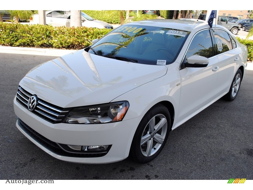 2015 Passat Wolfsburg Edition Sedan - Candy White / Cornsilk Beige photo #4