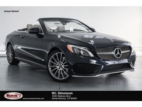 Lunar Blue Metallic 2018 Mercedes-Benz C 300 Cabriolet