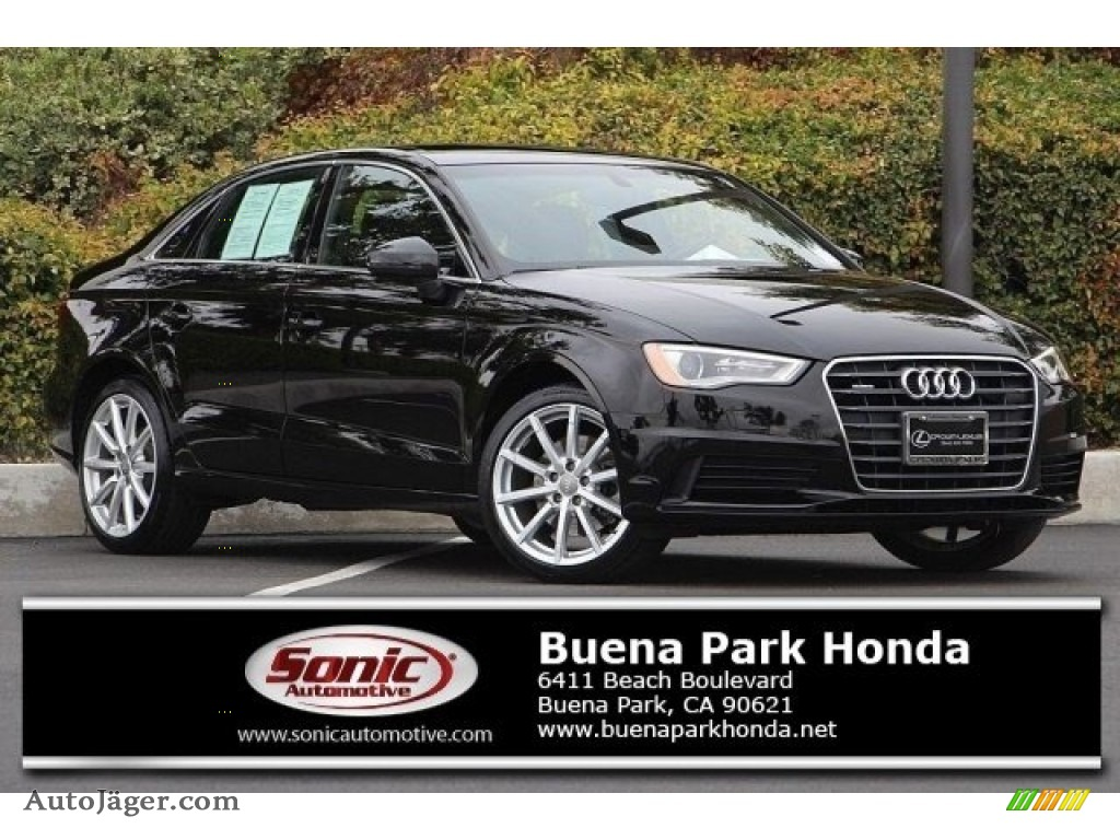 2015 A3 2.0 Premium Plus quattro - Brilliant Black / Black photo #1