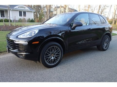 Black 2018 Porsche Cayenne Platinum Edition