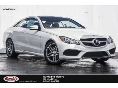 designo Diamond White Metallic 2017 Mercedes-Benz E 400 Coupe