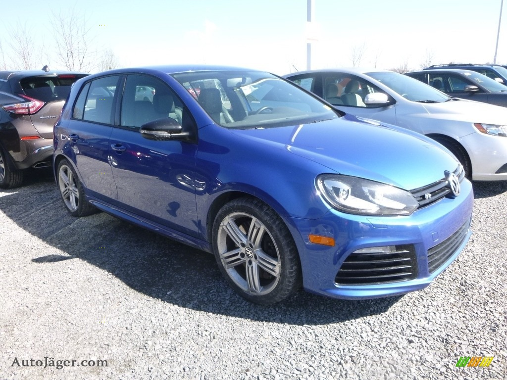 2013 Golf R 4 Door 4Motion - Rising Blue Metallic / Titan Black photo #1