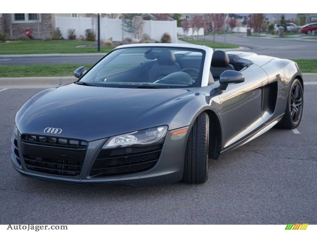 2011 R8 Spyder 5.2 FSI quattro - Daytona Grey Pearl Effect / Black Fine Nappa Leather photo #1