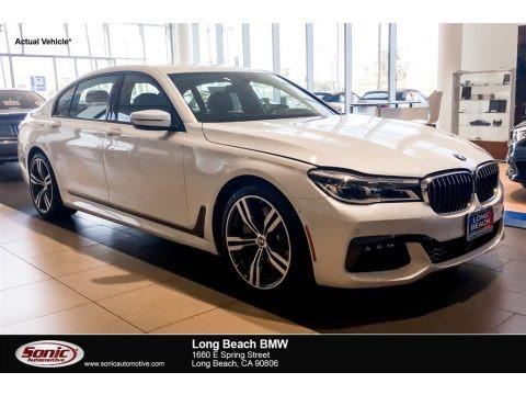 Mineral White Metallic 2019 BMW 7 Series 750i Sedan