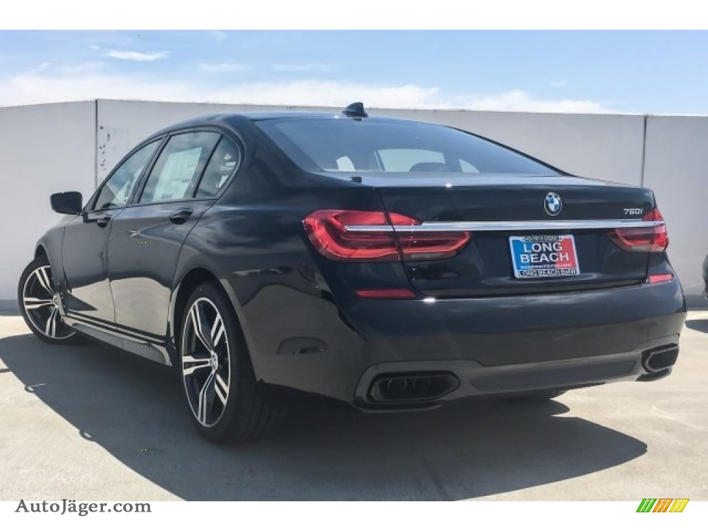 2019 7 Series 750i Sedan - Black Sapphire Metallic / Black photo #3