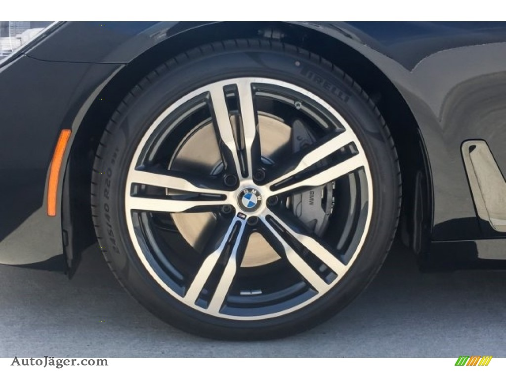 2019 7 Series 750i Sedan - Black Sapphire Metallic / Black photo #9