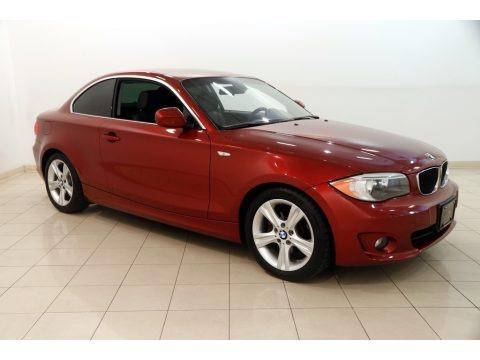 Vermilion Red Metallic 2013 BMW 1 Series 128i Coupe