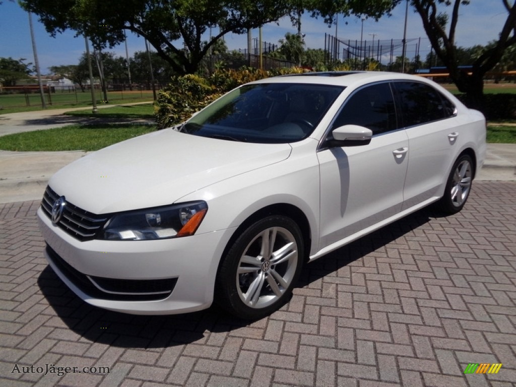 2014 Passat TDI SE - Candy White / Cornsilk Beige photo #1