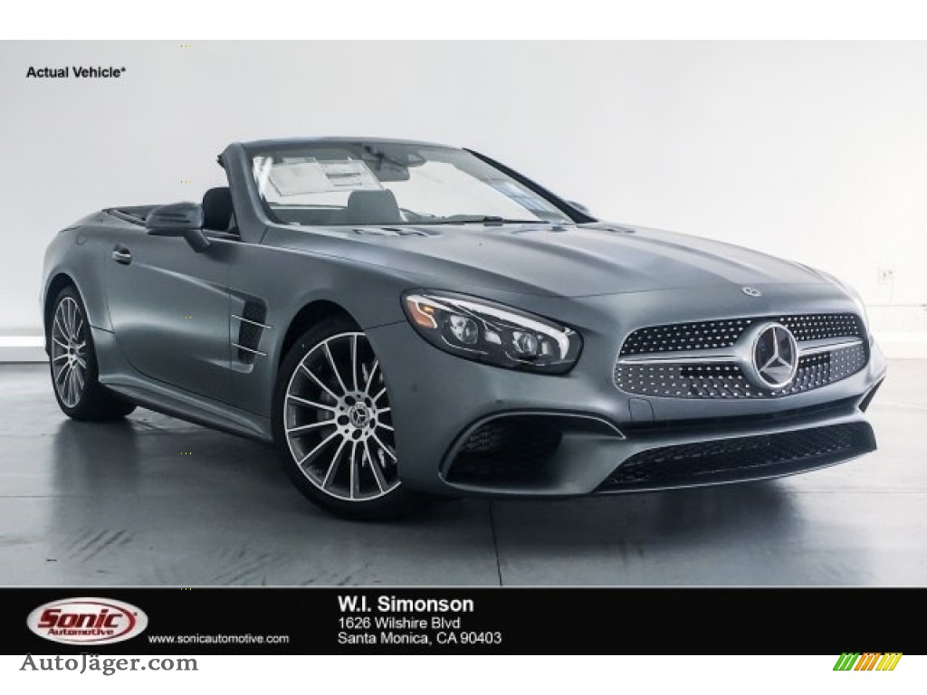 2018 SL 550 Roadster - designo Selenite Grey Magno (Matte) / Black photo #1