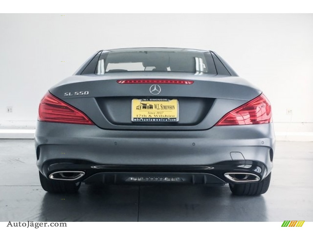 2018 SL 550 Roadster - designo Selenite Grey Magno (Matte) / Black photo #4