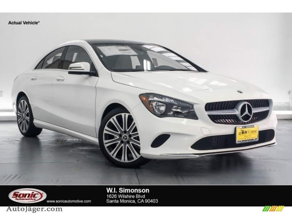 Polar White / Crystal Grey Mercedes-Benz CLA 250 Coupe