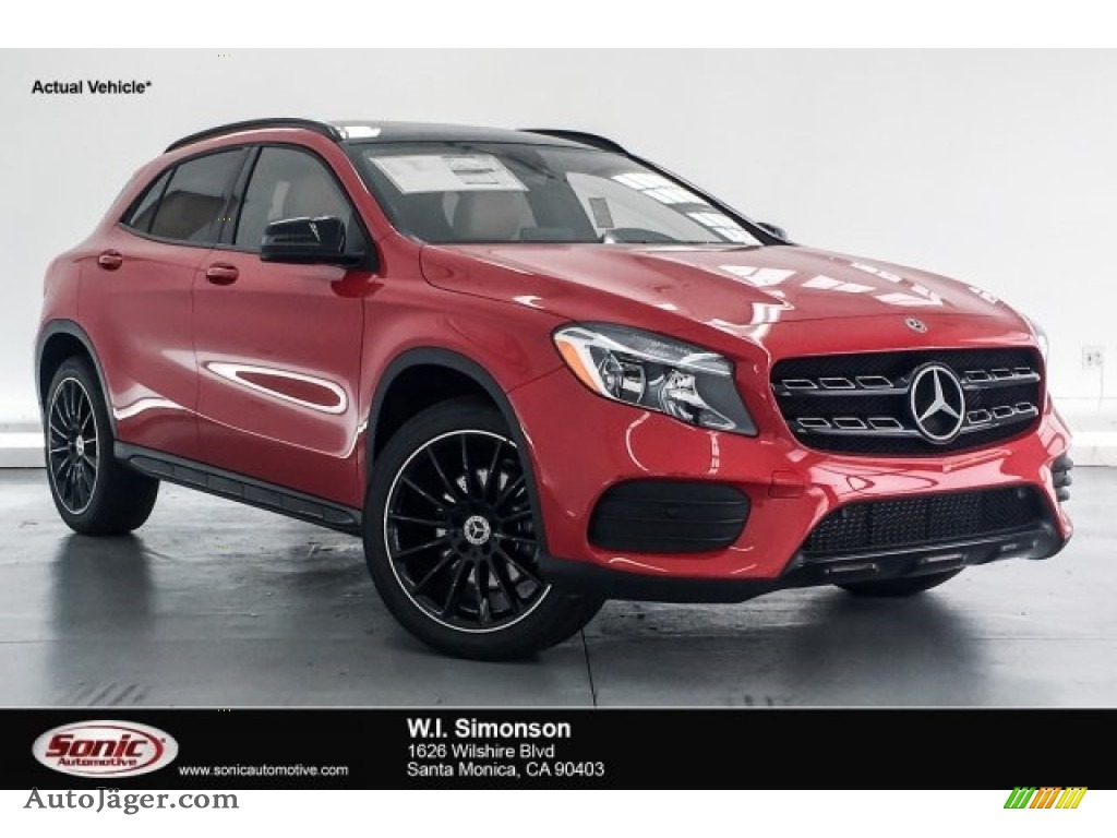 2018 GLA 250 - Jupiter Red / Sahara Beige photo #1