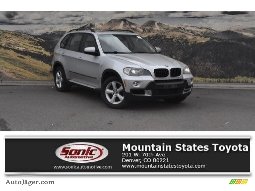 2007 X5 3.0si - Titanium Silver Metallic / Gray photo #1